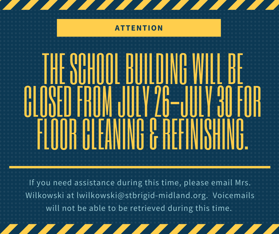 School Building Closed July 26th-July 30th