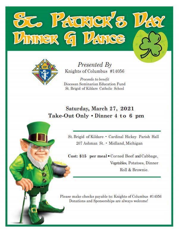 Knights of Columbus – St. Patrick's Day Dinner