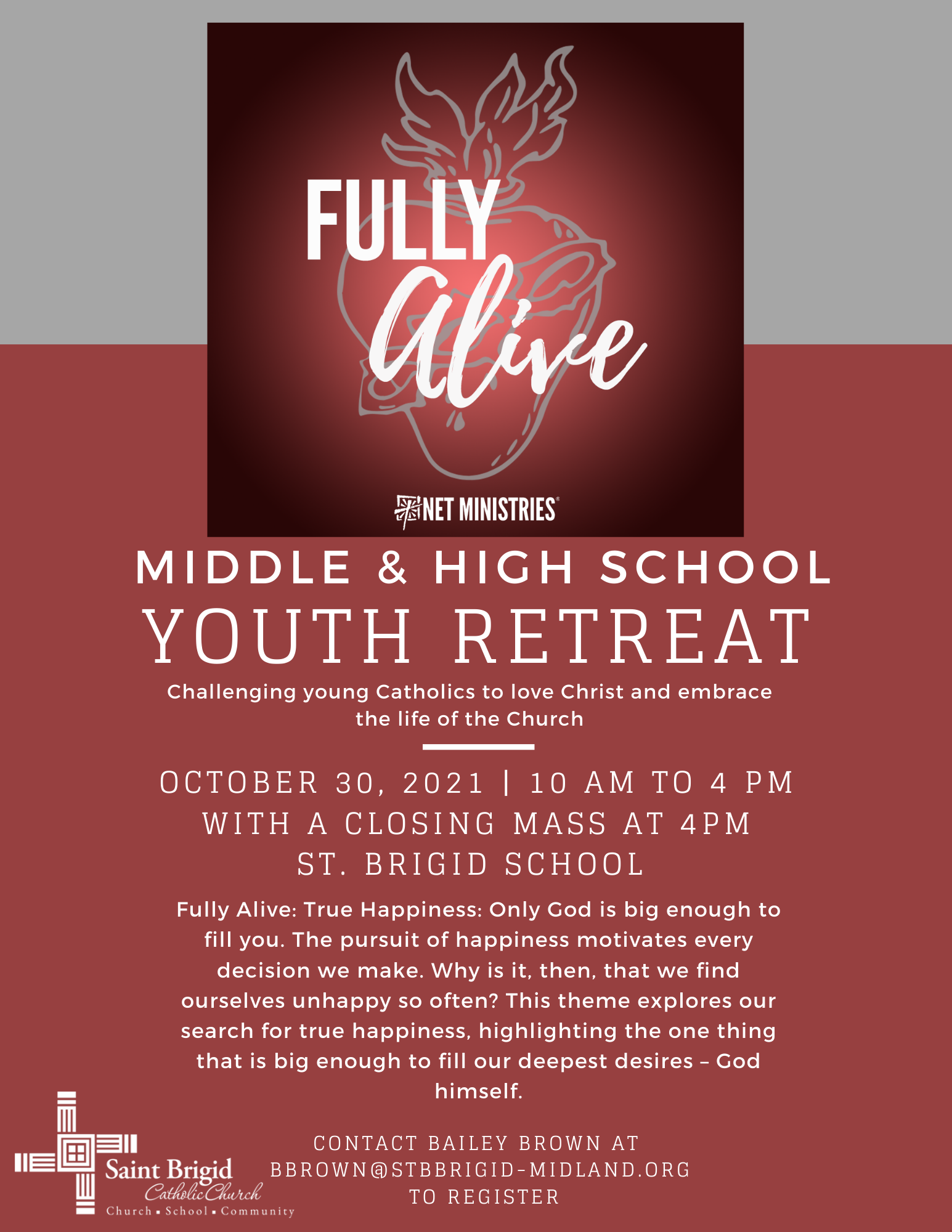 N.E.T. Ministries Youth Retreat-October 30, 2021
